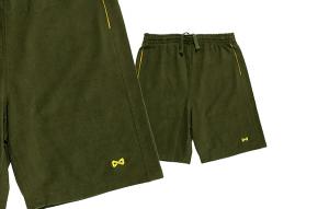 short navitas kaki et jaune pour pêcher la carpe